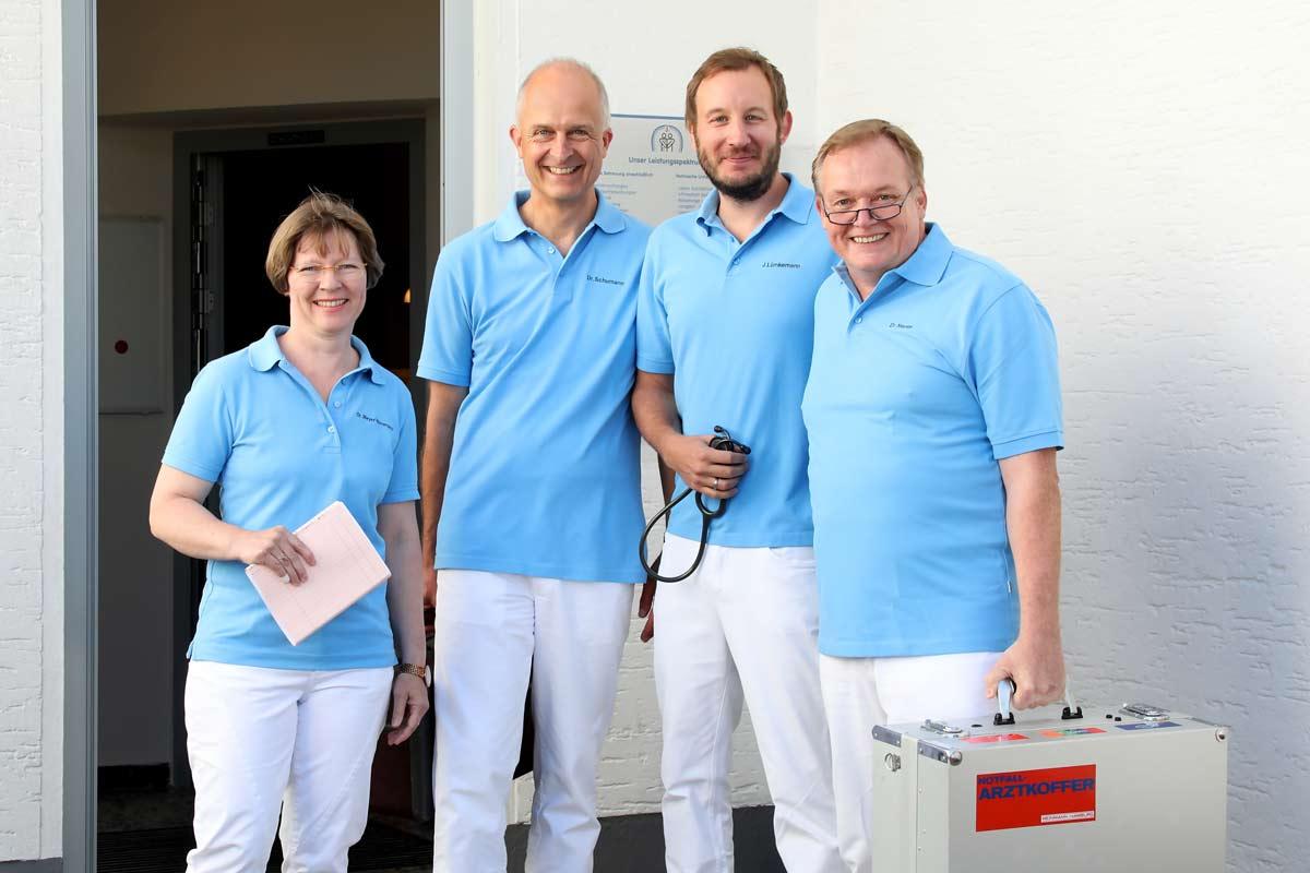 Das Ärzte-Team der Hausarztpraxis Heepen